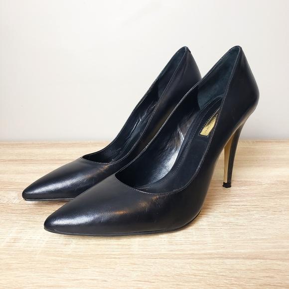 BCBGeneration Black Leather Heels size 9